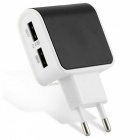 ES-D09 5V 2.4A 2-USB Port Charger for IPHONE 6 / 6S, Samsung, Xiaomi, Tablet PC, Camera (EU Plug)