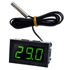 "1.6"" DC 5~12V Green Light -50~110'C Digital Thermometer Temperature Display Module for Car - Black"