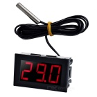 "1.6"" DC 5~12V Red Light -50~110'C Digital Thermometer Temperature Display Module for Car - Black"