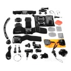 22-in-1 Chest Strap & Helmet Mount & Tripod Adapter Camera Mounting Accessories Kit for GoPro -Black