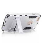 Hybrid Style Armor TPU Back Case w/ Stand for IPHONE 6 Plus - Silver