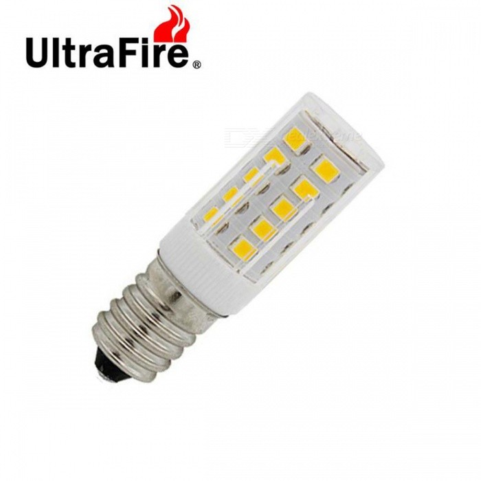 Ultrafire E14 5W 2835 SMD 33-LED 660lm Warm White Light Bulb (220V)E14<br>Form  ColorTransparent + YellowColor BINWarm WhiteMaterialCeramicsQuantity1 DX.PCM.Model.AttributeModel.UnitPower5WRated VoltageAC 220 DX.PCM.Model.AttributeModel.UnitConnector TypeE14Emitter TypeOthers,2835Total Emitters33Theoretical Lumens660 DX.PCM.Model.AttributeModel.UnitActual Lumens660 DX.PCM.Model.AttributeModel.UnitColor Temperature3000KDimmableNoBeam Angle360 DX.PCM.Model.AttributeModel.UnitPacking List1 x LED lamp<br>