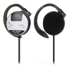 KEEKA H-6 Universal 3.5mm Wired Ear-Hook Earphone w/ Mic. - Black