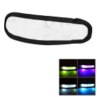 CTSmart Outdoor Cycling Reflective Colorful Light 3-Mode LED Safety Warning Strap Arm Band - White