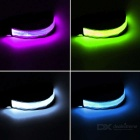 CTSmart Colorful Light 3-Mode LED Safety Strap Arm Band - White