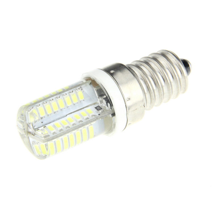 Ultrafire E14 5W SMD 64-LED 700lm LED Bluish White Light Silicone Bulb