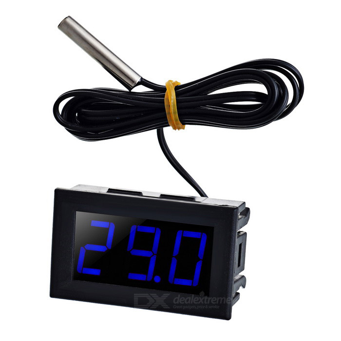 "1.6"" Blue Light -50~110'C Thermometer Temperature Display for Car"