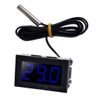 "1.6"" DC 5~12V Blue Light -50~110'C Digital Thermometer Temperature Display Module for Car - Black"
