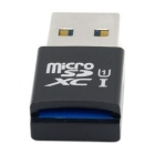 mini-formaat USB 3.0 naar micro SD / SDXC-TF-kaartlezer adapter - zwart