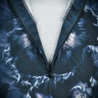 Fashionable 3D Wolf Printing Hooded Jacket Coat - Blue + Black (L)