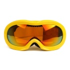 Fashionable TPU Frame PC Lens UV400 Protection Anti-Fog Sport Skiing Goggles for Children - Yellow