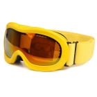 TPU Frame PC Lens UV400 Protection Skiing Goggles for Kid - Yellow