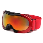 TPU Frame PC Lens UV400 Protection Skiing Goggles for Kid - Red