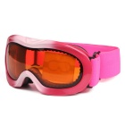 TPU Frame PC Lens UV400 Protection Skiing Goggles for Kid - Pink