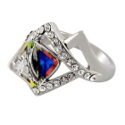 Xinguang Women's Twists And Turns Of The Rubik's Cube Ring - Silver (US Size 7)