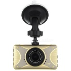"3.0"" TFT CMOS 120' Wide-Angle 3.0MP Car DVR Camera Camcorder w/ IR Night Vision & G-Sensor - Golden"