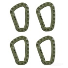 Outdoor Tactical Lightweight Quick Release QR D-Ring mosquetão - Exército Verde (4pcs)
