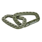 Outdoor Tactical Quick Release QR D-Ring Carabiner - Army Green (4PCS)