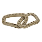 Outdoor Tactical Quick Release QR D-Ring Carabiner - Khaki (4PCS)