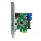 PCI-e para USB 3.0, 19 Card 3.0 Extensão / 20pin interface para USB - Verde