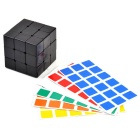 DIY 57mm 3 x 3 x 3 Magic Cube w / 2 PVC-Aufkleber-Set - Schwarz
