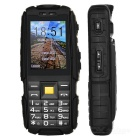 "NO.1 A9 Waterproof Bar Phone w/ 2.4"" TFF Screen, Flashlight - Black"