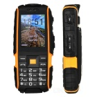 "NO.1 A9 Waterproof Bar Phone w/ 2.4"" TFF Screen, Flashlight - Black + Orange"