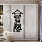 Love My Money Pattern Wall Sticker -Black (26*57cm)