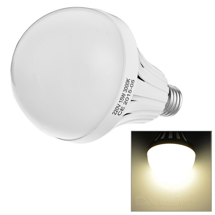 E27 8.6W LED Globe Bulb Lamp Warm White Light 600lm 52-SMD - White