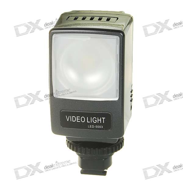6500K LED Video Light for Sony Camcorder with 1500mAh Rechargeable Li-ion Battery Pack