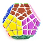 Spring Adjustable Magic Dodecahedron Megaminx Rubik's Cube - White + Green +Multi-Color