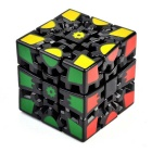 6cm 3D Gear Magic IQ Cube - Black + Multicolored