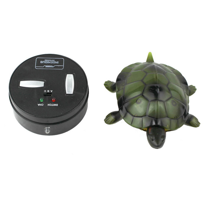 Infrared Ray Remote Control Brazil Turtle Toy Animal Model - Green