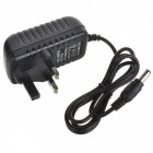 12V 1A Power Supply Adapter for LED Light Lamp & Surveillance Security Camera - Black (UK Plug)