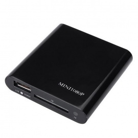 Mini 1080P USB SD MMC HD AV Port TV Multi Media Player