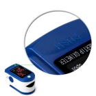 Fingertip Oximeter Blood Oxygen Saturation Monitor - White + Blue