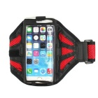 Mesh Cloth Sports Armband Case / Arm Bag for IPHONE 6 / 6S / 6 PLUS / 6S PLUS - Black + Red