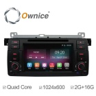"Ownice C200 7"" 1024x600 2GB RAM Quad-Core Android 4.4 Car DVD Player for BMW E46 M3 3 Series - Black"