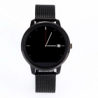 V360 MTK2502 Stainless Steel Circular Smart Watch w/ SMS, Bluetooth,Siri, Wake-up By Gesture - Black