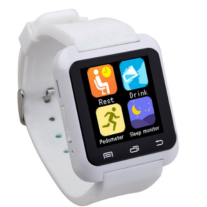 U80 Bluetooth V4.0 Smart Wrist Wrap Watch for Android Phone - White