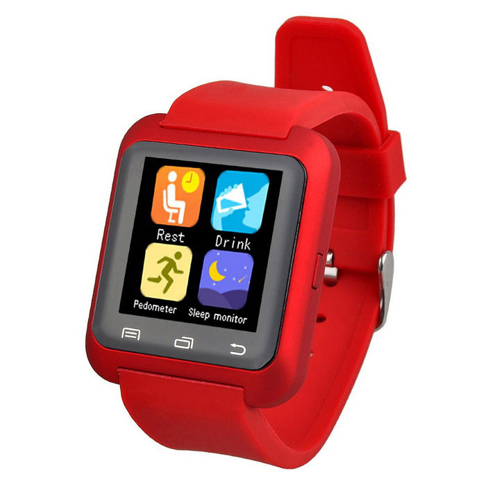 Bluetooth V4.0 Smart Wrist Wrap Watch for Android Smartphone - Red