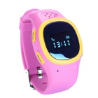 J520 GPS&LBS Location Kids Smart Watch Phone w/ Double Side Conversation, Record Review - Pink