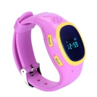 J520 GPS&LBS Location Kids Smart Watch Phone w/ Record Review - Pink