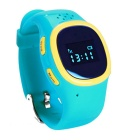 J520 GPS&LBS Location Kids Smart Watch Phone w/ Double Side Conversation / Record Review - Blue