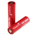 FandyFire 18650 3000mAh Rechargeable Battery - Red + White (2PCS)