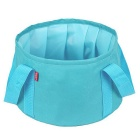 Outdoor Camping Hiking Portable Multi-purpose Folding Wash Basin - Blue