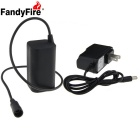 FandyFire 8.4V 4000mAh 18650 Waterproof Bike Light Battery Pack + US Charger - Black