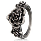 Women's Retro 3 Flowers Style Alloy Ring - Antique Silver (US Size: 9)