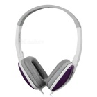 SENICC ST-1709 3.5mm Wired Headband Headphone for Laptop / MP3 - White + Purple + Grey