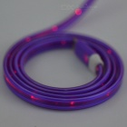 Micro USB to USB 2.0 Data Charging Cable w/ Red LED - Deep Purple (1m)